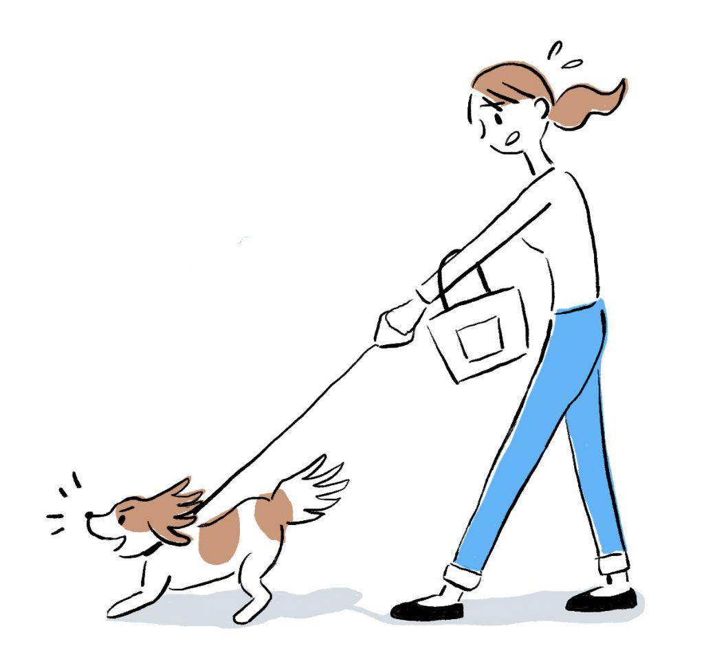 イラスト_吠える犬